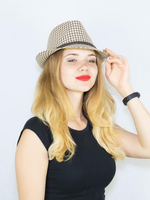 Шляпа в гусиную лапку Fashion Look 4265561