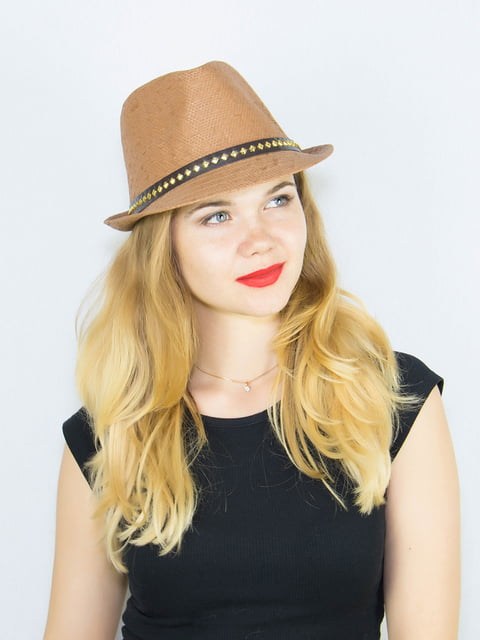 Шляпа коричневая Fashion Look 4265597
