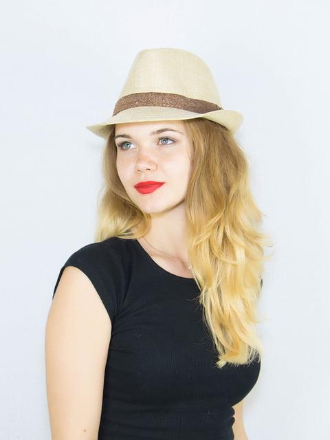 Шляпа бежевая Fashion Look 4265599