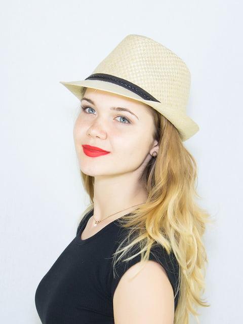 Шляпа бежевая Fashion Look 4265550