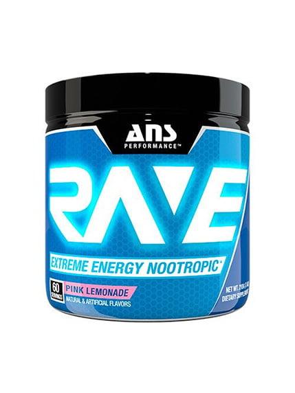 Rave Extreme Energy Nootropic рожевий лимонад (210 г) ANS Performance 4263896
