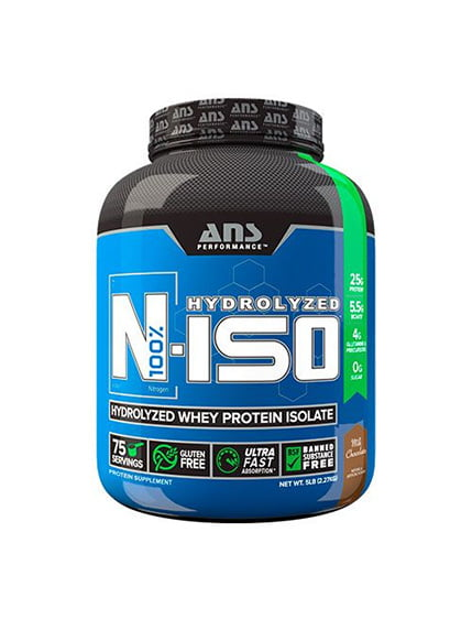 Ізолят сироваткового протеїну N-ISO молочний шоколад (2,27 кг) ANS Performance 4263905