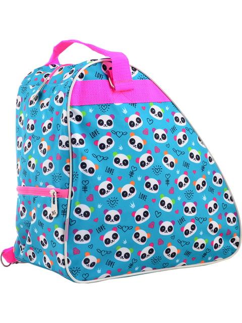 """Рюкзак-сумка для ковзанів/роликових ковзанів блакитний в принт """"YES"""" 4284761"""