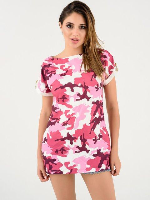 Туника розовая в камуфляжный принт Magnet 4247147