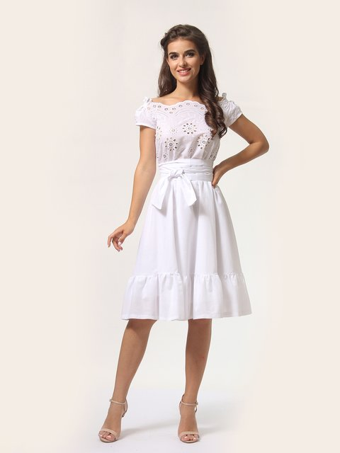 Платье белое AGATA WEBERS 4290465