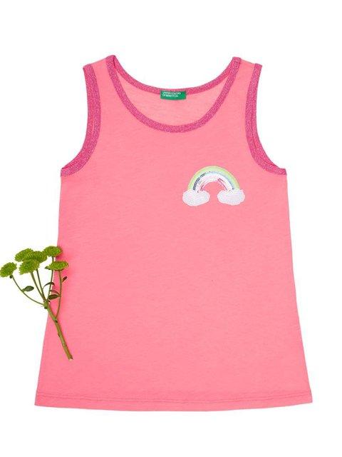 Майка розовая Benetton 4176399