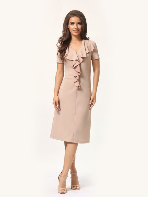 Платье песочного цвета Lada Lucci 4301929