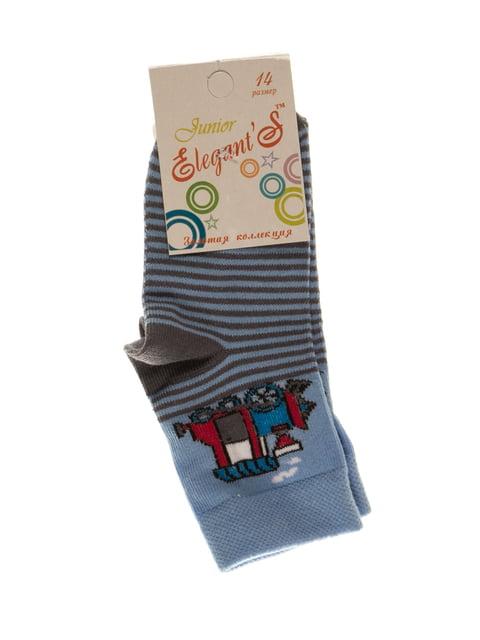 Шкарпетки в смужку з малюнком ELEGANTS 4100467