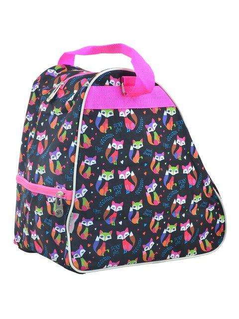 """Рюкзак-сумка для ковзанів/роликових ковзанів темно-синій в принт """"YES"""" 4284762"""