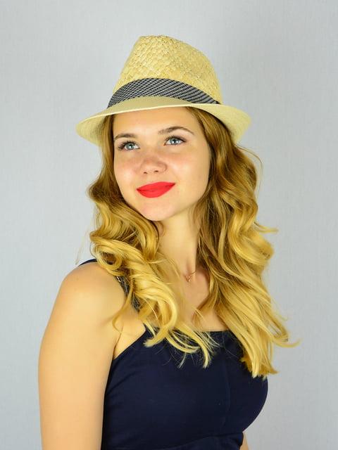 Шляпа бежевая Fashion Look 4305094