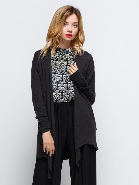 Кардиган темно-сірий Zara 2752605