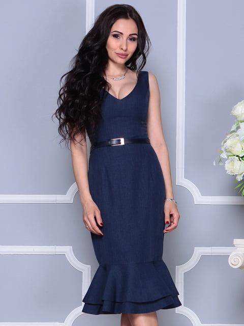 Сукня темно-синя Laura Bettini 4297698