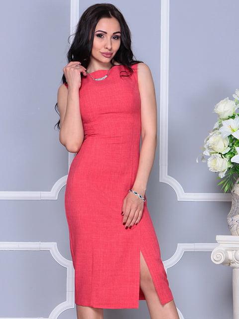 Сукня кольору червоний корал Rebecca Tatti 4297747
