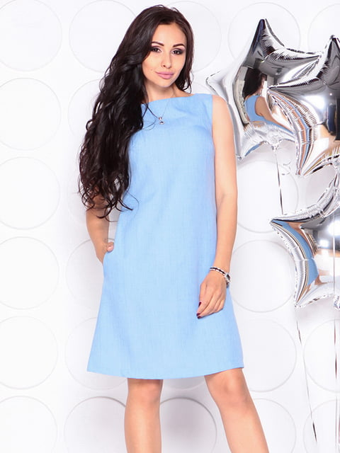 Платье-сарафан голубое Laura Bettini 4311703