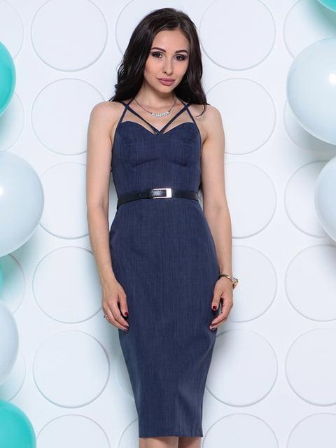 Сукня темно-синя Laura Bettini 4311738
