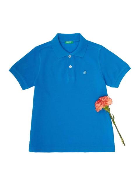 Футболка-поло синяя Benetton 4229638