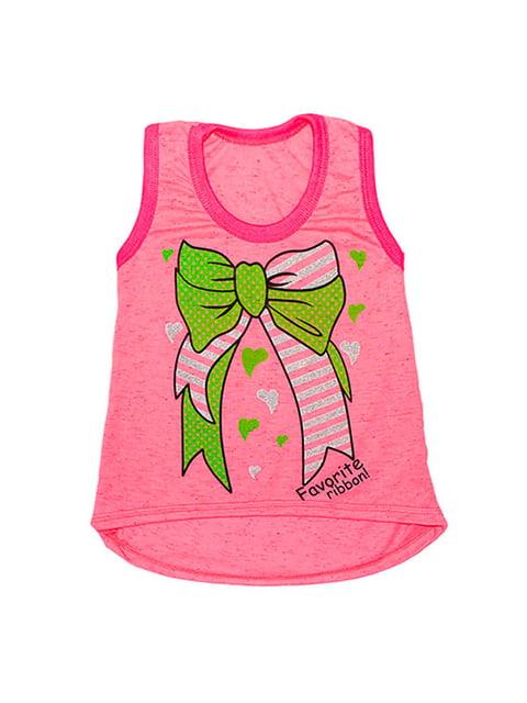 Туніка рожева з принтом Малыш 4314781