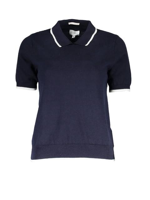 Футболка-поло синя Gant 4319810