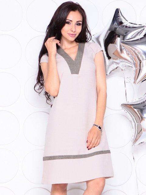 Платье бежевое Laura Bettini 4323481