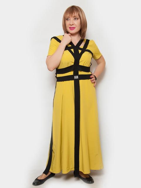 Платье горчичного цвета LibeAmore 4324367