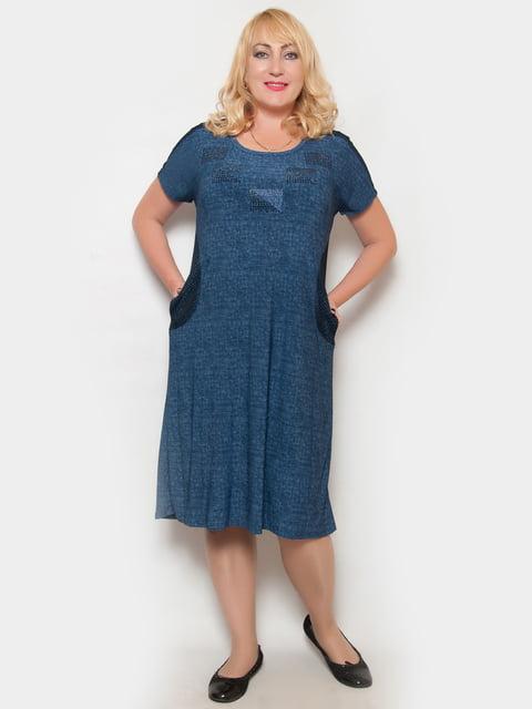 Сукня синя з декором LibeAmore 4324376