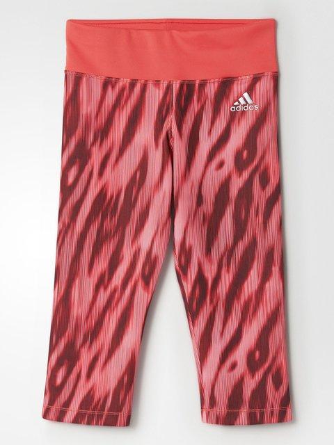 Бриджі червоні в принт Adidas 4328572