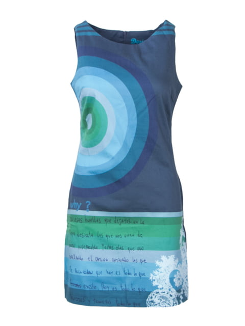 Сукня синя в принт Desigual 4322634