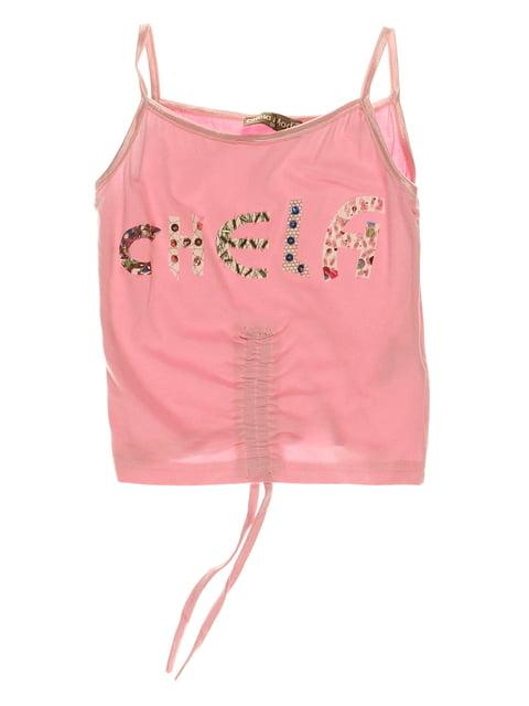 Топ розовый с принтом CHELA 3168433