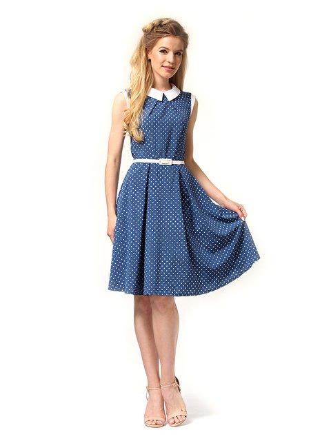 Платье голубое в горох Lada Lucci 4341600