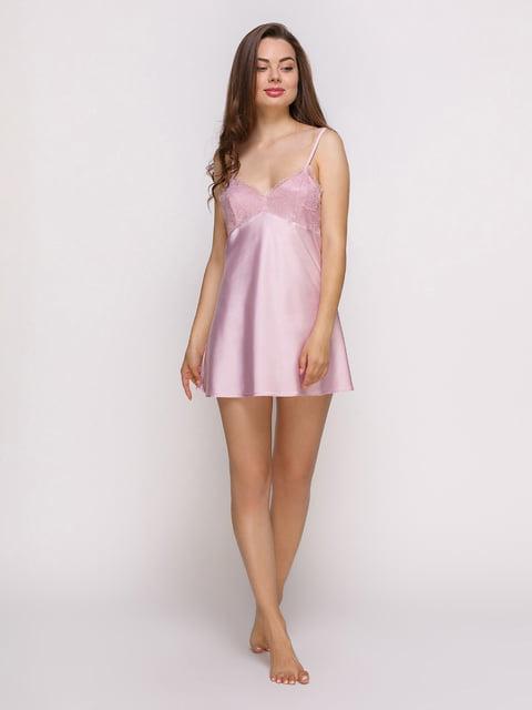 Рубашка ночная цвета пудры Lapin 4336510