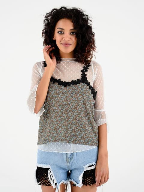 Блуза в різнобарвний принт Magnet 4312312