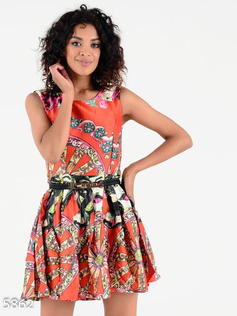 Платье в принт Magnet 4342681