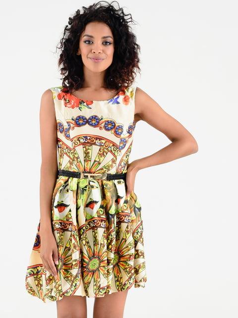 Платье в принт Magnet 4342682