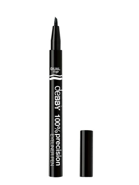 Ручка-підводка для очей  подвійна 100% Precision №1 (0,8 мл) Debby 4346891