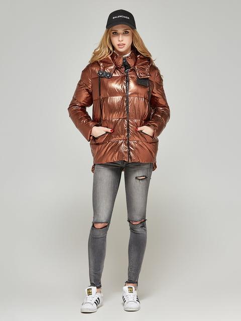 Куртка шоколадного кольору Mila Nova 4052177