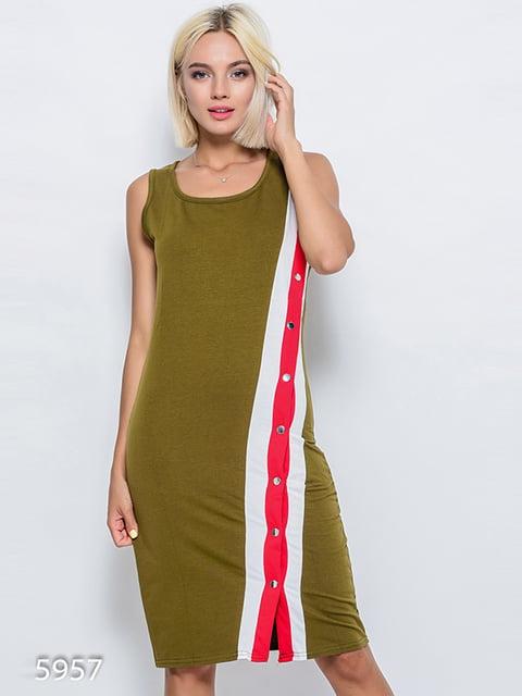 Платье цвета хаки Magnet 4352424
