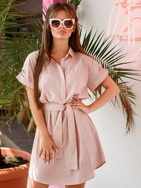 Платье-рубашка розовое Gepur 4363947