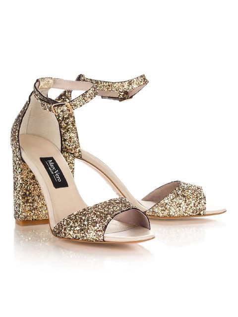 Босоножки с золотым покрытием на каблуке Marc Vero Maxxi 4189849