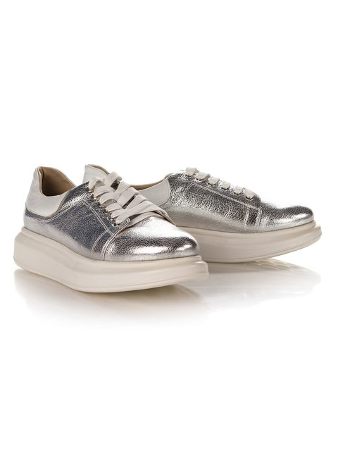 Кеди сріблясто-білі Marc Vero Maxxi 4189842