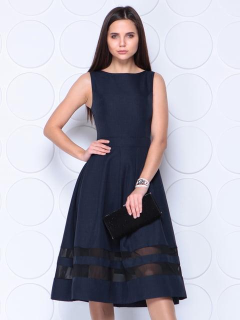 Платье черно-синего цвета Dioni 4364629
