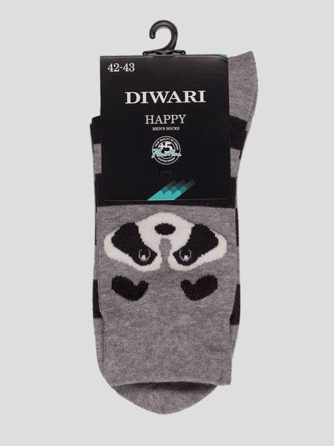Шкарпетки сірі з малюнком Conte 4366585