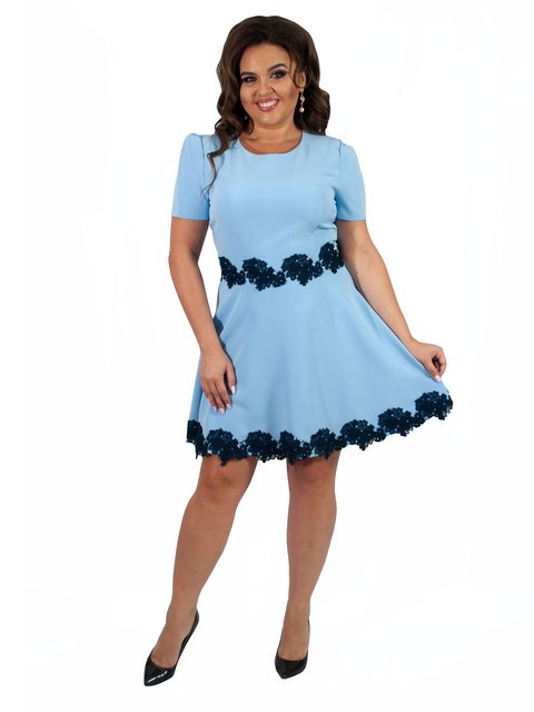 Платье голубое Мисс мода 4366313