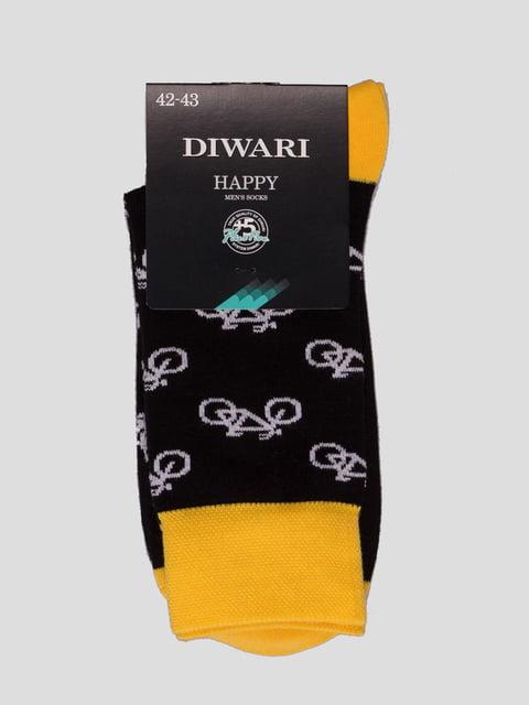 Шкарпетки чорні з малюнком Conte 4366582