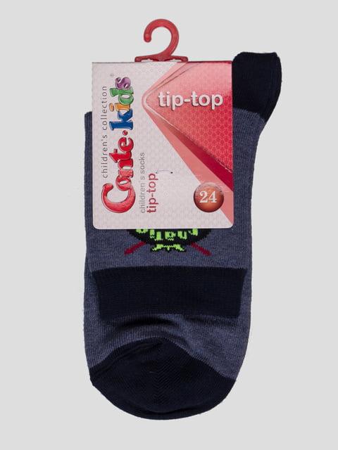 Шкарпетки сині з малюнком Conte Kids 2626369