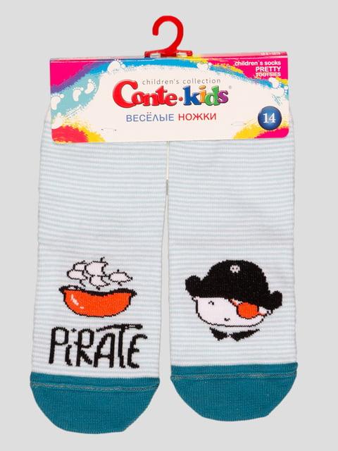 Носки светло-бирюзовые с рисунком Conte Kids 4366792
