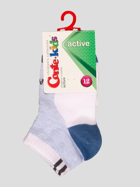 Шкарпетки біло-блакитні Conte Kids 4366725