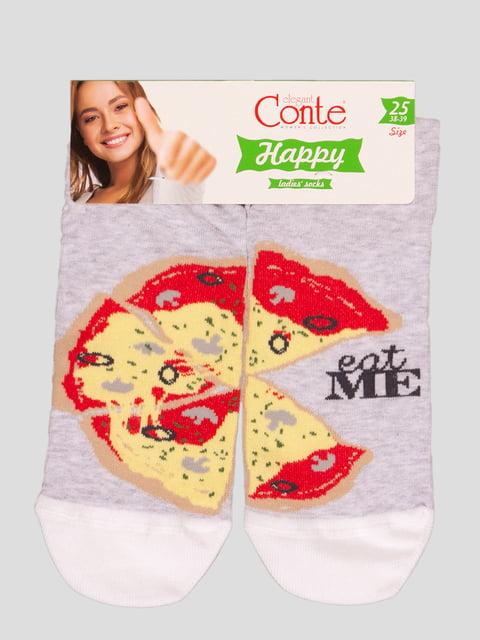 Шкарпетки світло-сірі з малюнком Conte 4366488
