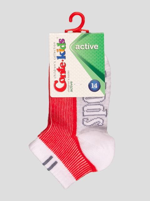 Шкарпетки двоколірні з написом Conte Kids 4366734