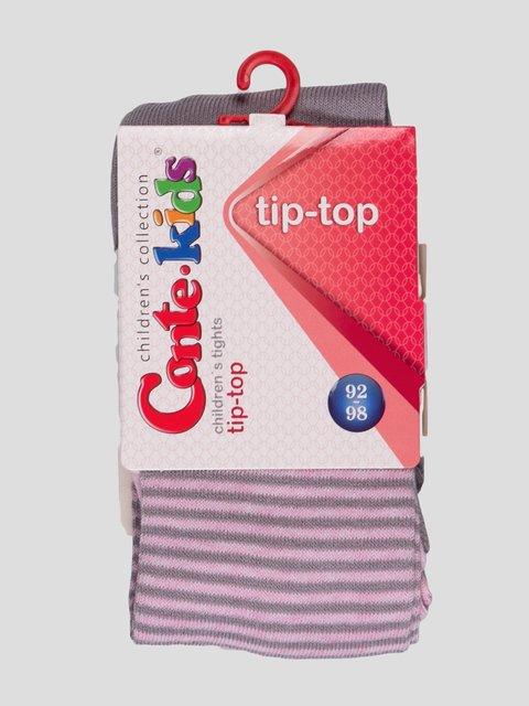 Колготки світло-рожеві з смужками і малюнком Conte Kids 2625831