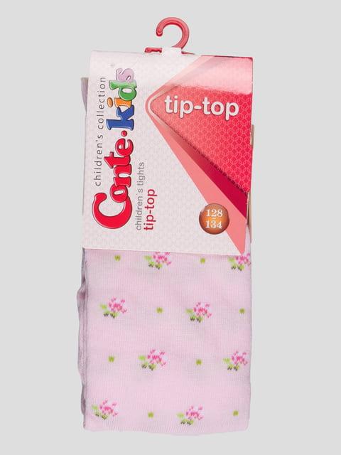 Колготки светло-розовые с цветочным принтом Conte Kids 3750069